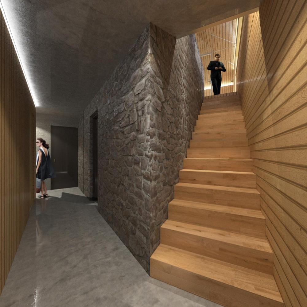 Valley21 Solis House corridor Luca Fornaroli architect